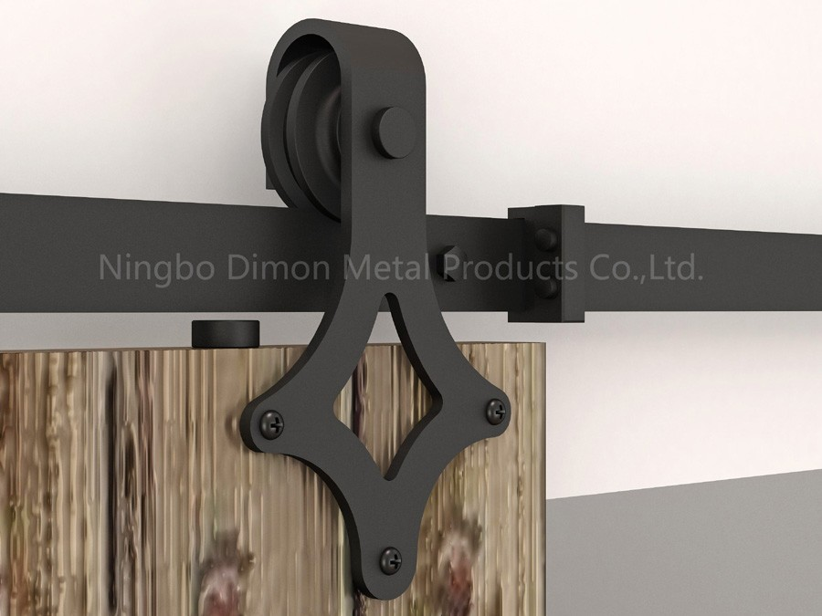 Dimon Customized Sliding Door Hardware With Damper Kits America Style Sliding Door Hardware DM-SDU 7205 With Soft Closing