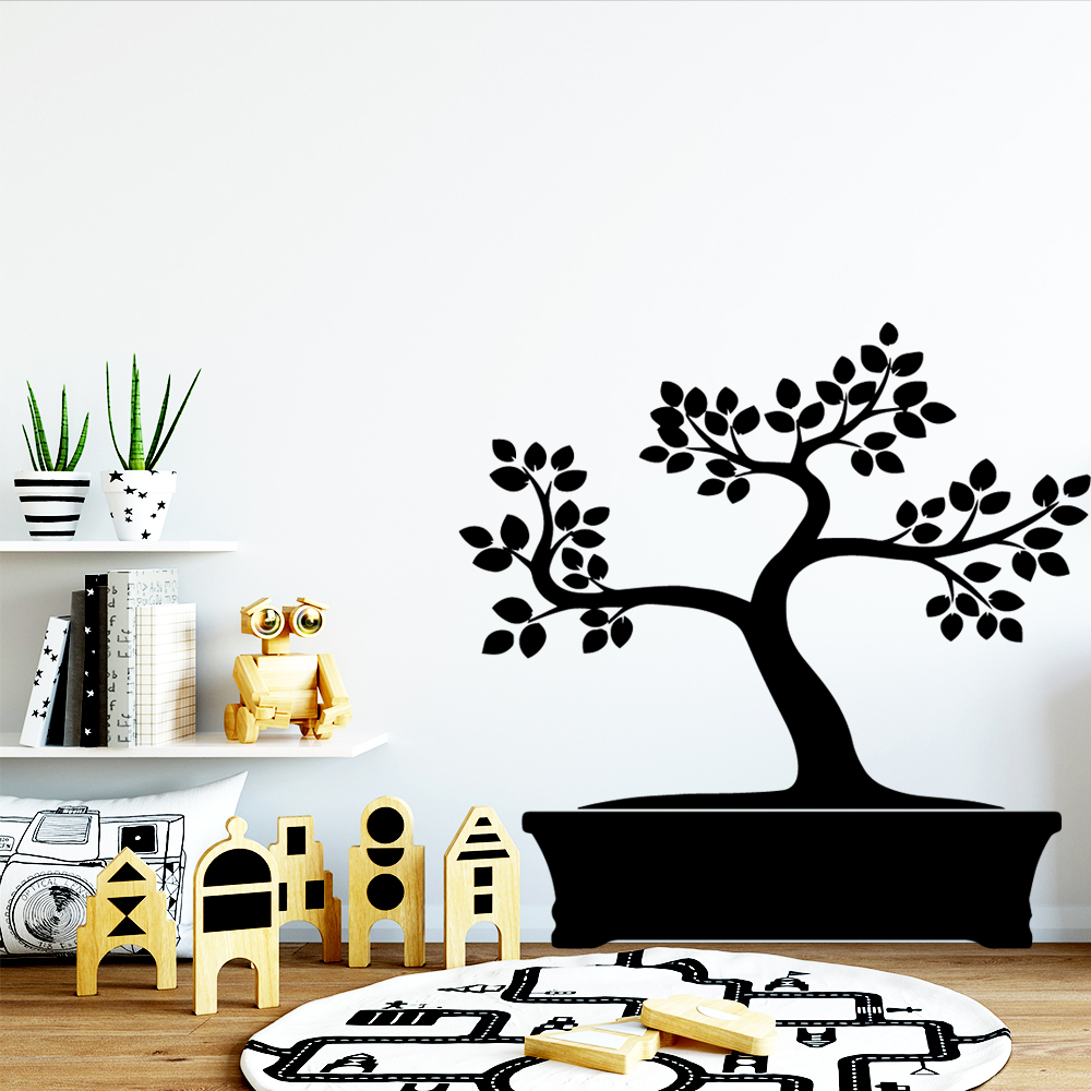 Hot Potted Landscape Wall Sticker Home Decor for Living Room Bedroom Decoration Decals Stickers Murals
