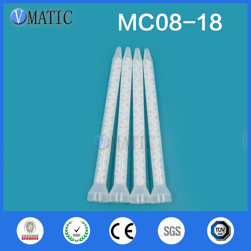 Free Shipping Plastic Resin Static Mixer MC/MS08-18 Mixing Nozzles For Duo Pack Epoxies