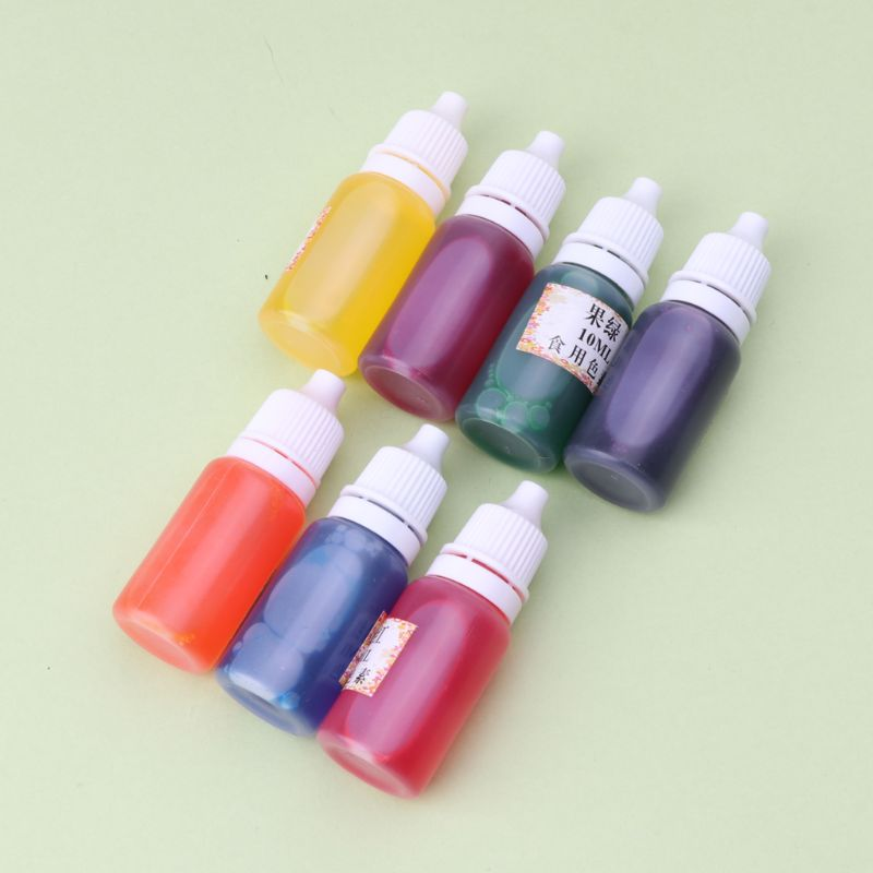 7 Colors Dye Colorant Set Slime Jewelry Making Skin Safe Liquid Resin Pigments 10ml in Jewelry Tools Equipments from Jewelry Accessories