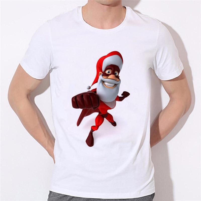 Online-Shop 3D mode gedruckt T-shirt Weihnachtsmann Männer Casual T ...