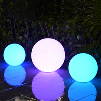 Solar Energy Dia40CM Ball RGB Night Lamp Light operated 16 Color LED Waterproof Ground Lamps for Outdoor Square Garden Courtyard
