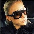 2016 Fashion Sunglasses Women Brand Designer 2016 Luxury Sunglass Men Retro Vintage Square Glasses Big Frame Goggles for Party