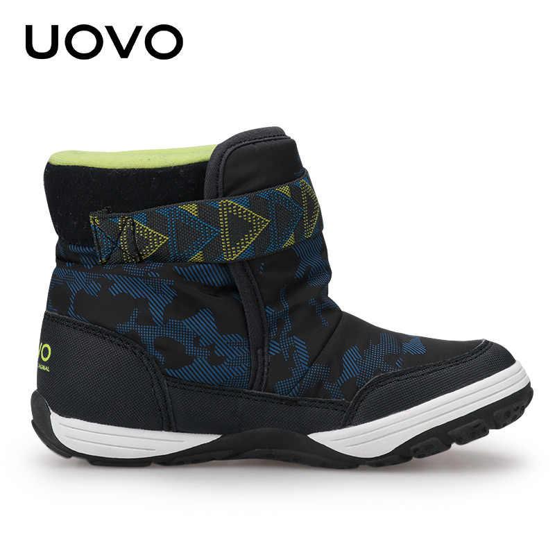 UOVO 2019 Nieuwe Winter Laarzen Kinderen Warme Schoenen Merk Mode Winter Schoenen Jongens en Meisjes Snowboots Peuter Fluwelen Schoenen maat 24-36 #