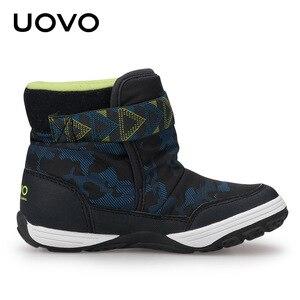Image 3 - UOVO 2020 новые зимние ботинки, детская теплая обувь, брендовая модная зимняя обувь для мальчиков и девочек, зимние ботинки для малышей, бархатная обувь, размер 24 36 #