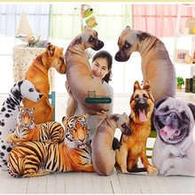 Dorimytrader 90cm New Big Plush Soft Simulated Animal Pillow Stuffed Dog Tiger Toy 6 Models Baby Gift Free Shipping DY61204(China)