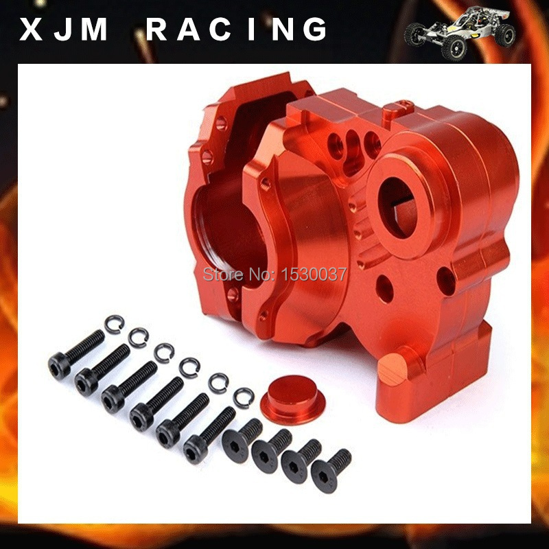 CNC alloy metal Three Sections of fission diff gear box set fit HPI KM ROVAN Baja 5B 5T 5SC king motor truck free shipping цена 2017