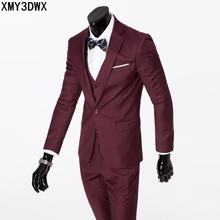 2018 Custom made Mens Suits Jacket Pants Formal Dress male One-Buckle Suit Set wedding suits groom tuxedos Asia size 5XL 6XL