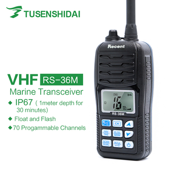 Recent RS-36M IP67 VHF Handheld Marine Radio Float Dual/Tri-watch Ham Portable 156-161.45Mhz Transceiver
