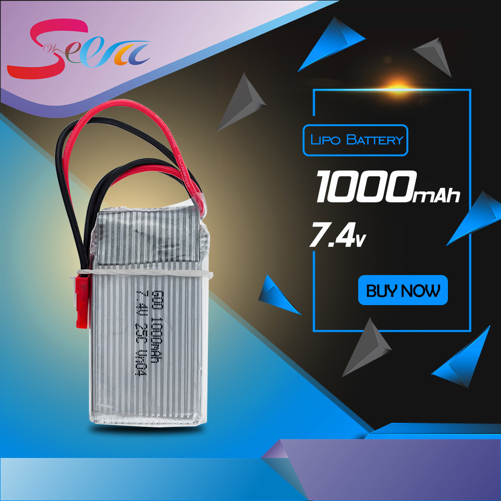 7.4V 1000Mah Li-po Battery For WLToys V262 V333 V353 V912 V915 FT007 DEVO4 MJX X600 RC Helicopter hot sale 1pc 7 4v 1000mah li po battery for wltoys v262 v333 v353 v912 v915 ft007 devo4 mjx x600 rc helicopter hot sale