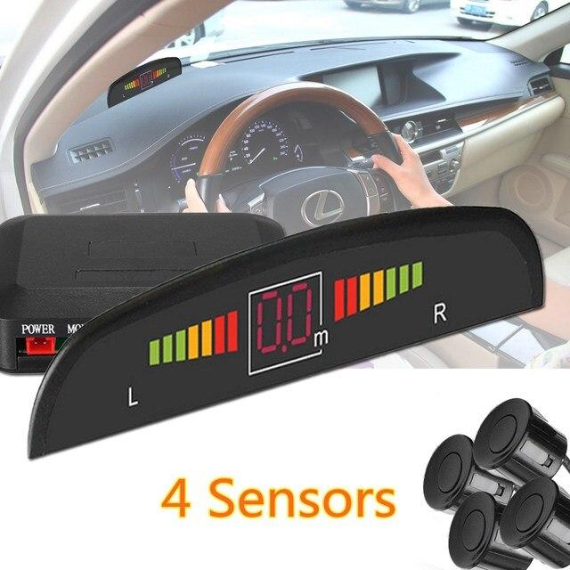 Reverse Sensor 12v Car Radar Detector Led Display Parktronic 4 Sensors For Reversing Ultrasonic Parking Sensor