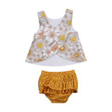 newborn baby toddler sets casual outfit clothes o neck long sleeved tops pants hats 3pcs set baby clothes for boys and girls Newborn Toddler Baby Girls Outfit Clothes Sleeveless O Neck Vest Tops Ruffled Tutu Shorts 2PCS Baby Clothes Sets Summer new