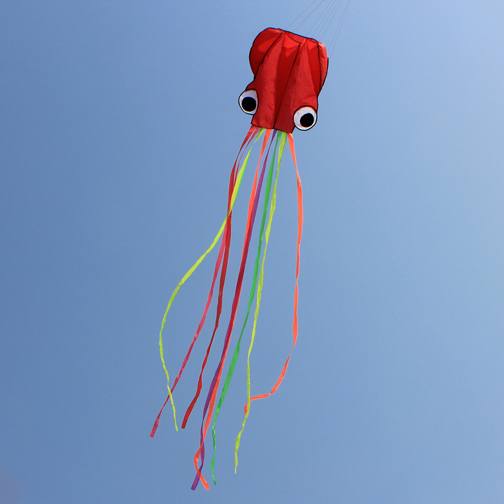 4M Large Cartoon Octopus Kite Single Line Stunt /Software Power Children Outdoor Kite with 30m Kite String