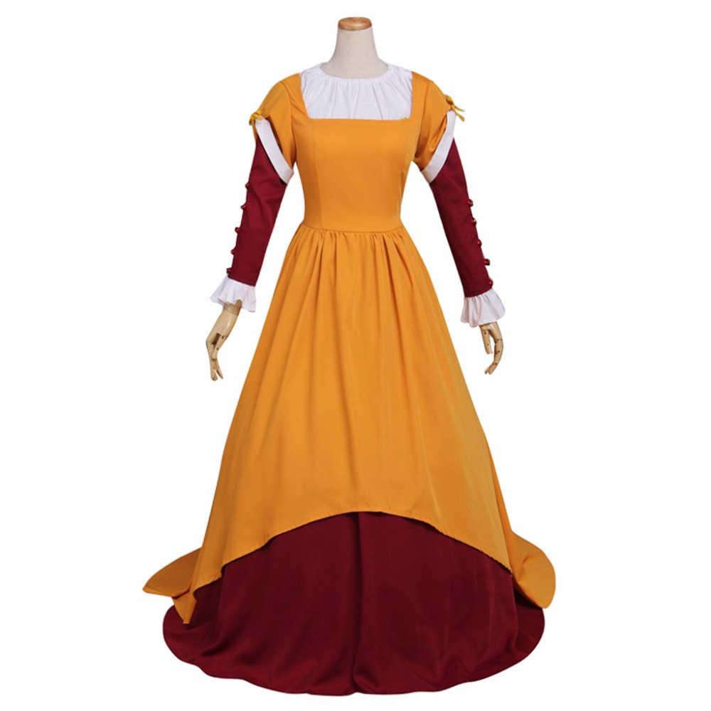 Adult Women's Dress Costume Cosplay Vintage Medieval Dress Victorian Dress The South Area Dress Costume Cosplay for Party ruffles 2029 gaess medieval dress costume cartoon character costumes dress medieval dress