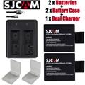New 2pcs SJCAM sj4000 eken H9 H3 H8 W9 G3 GIT-LB101 GIT BATTERY sj5000 sj6000 sj7000 SJ8000 SJ9000 battery+ Dual charger
