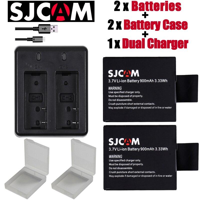 Nuevo 2 unids SJCAM sj4000 eken H9 H3 H8 W9 G3 GIT-LB101 GIT batería sj5000 sj6000 sj7000 SJ8000 SJ9000 batería + cargador