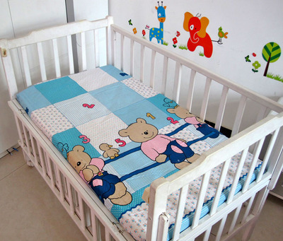 Promotion! Cartoon Baby Bed Sheets 100% Cotton Super Soft Crib Sheet Infant Cot Sheets,fitted Sheet, 120*60/120*70cm