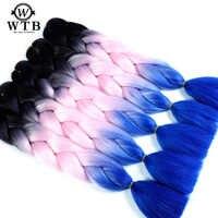 WTB 100g 24 Zoll Jumbo Synthetische Haar Flechten Haar Für Braid Häkeln Zöpfe Afrikanische Ombre Farbe Zöpfe