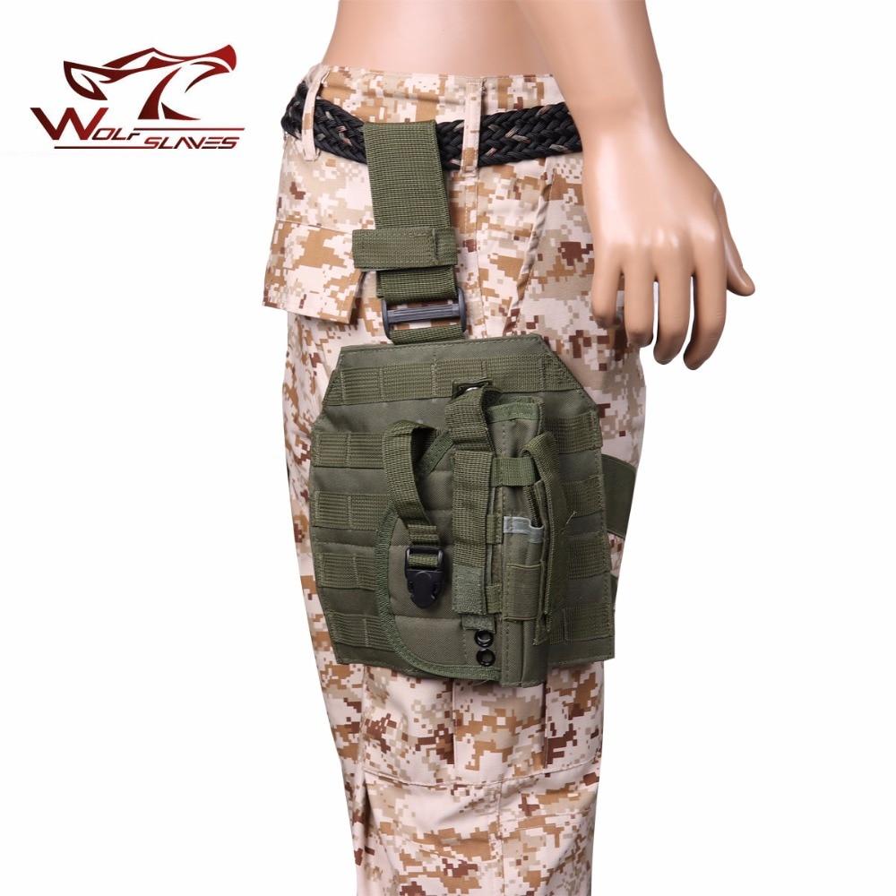 Molle Gun Case Adjustable Tactical Holster Puttee Thigh Leg PB 075 Pistol Airsoft Gun Holster Pouch With Magazine Pocket Bag