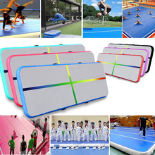 JIANIF 4/5/6m Air Track Tumbling Gym Gymnastics Inflatable Bouncer Trampoline Floor for Home Yoga Olympics Training Dropshipping air track 5m inflatable olympics gymnastics mattress gym tumble yoga airtrack floor tumbling air track pink green free shipping