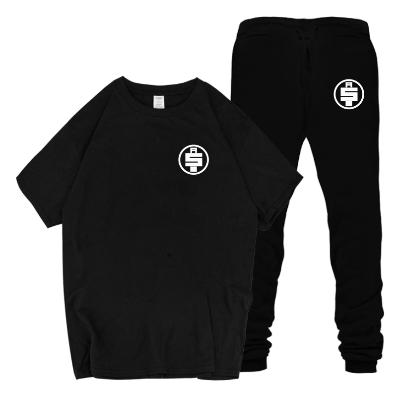 New Men's Sets T Shirts+Pants Two Pieces Sets Casual Tracksuit Male Casual Tshirt 2019 Men Nipsey Hussle T-Shirt+Pants Sets