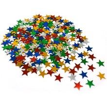 2500 шт. 10 мм/6 мм Серебряные звезды блестки Stardust Металлические Многоцветный Звезда Счастливый Новый Год украшение стола рассыпных партия декор