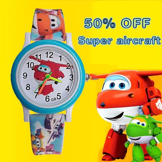 High quality quartz wristwatch Cartoon Mira Jett Super fly man Children Watch ki
