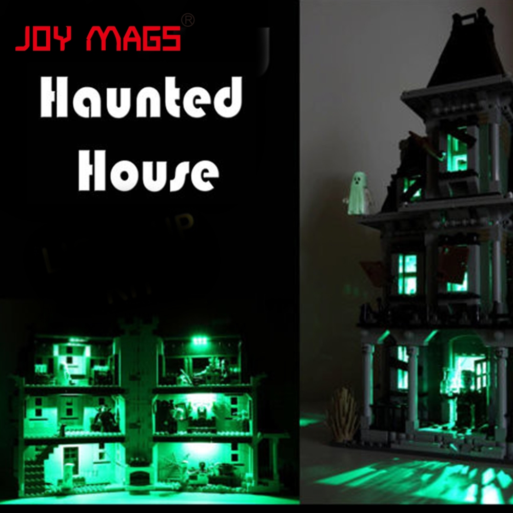 JOY MAGS Led Building Blocks Kit For Creator 10228 City Monster Fighter Haunted House Lepin 16007 Excluding Building Model in stock new lepin 16007 2141pcs monster fighter the haunted house model set building kits model compatible with10228