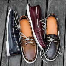 4e26e61e2d Estilo britânico de Couro Cheia de Grãos Rendas Respirável Sapatos de  Negócios Formais Oxfords Dos Homens