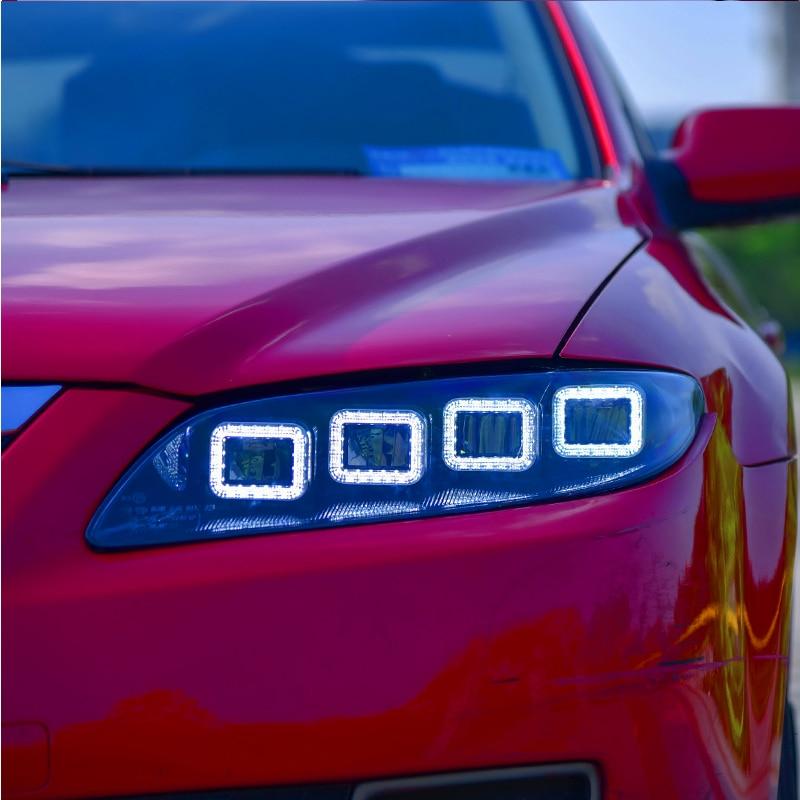Car Styling Head Lamp for Mazda 6 Headlights 2003 2015 Mazda6 All LED Headlight LED DRL Dynamic Signal Angel Eye Accessories
