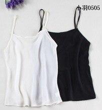 The new limited 100% mulberry silk silk georgette render black white condole belt vest perspective small condole
