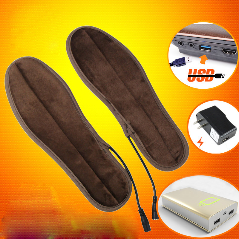 MWSC Unisex Heated Insoles USB Insoles Heated Eletric Shoes Pad Quick Winter Warming Shoepad Water Washable Reuseable Shoes Mat