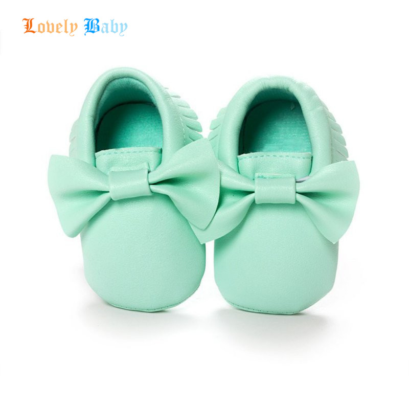 18-colors Handmade Fashion Tassels Baby Moccasin Newborn Shoes Soft Bottom Infants Crib Shoes PU leather Prewalkers