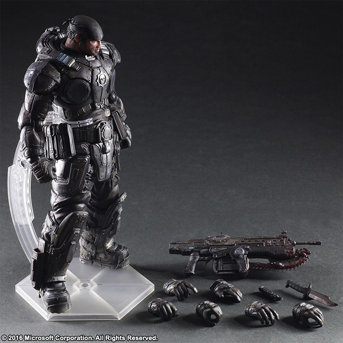 Gears of War 3 Play Arts Kai Marcos 260mm PVC Action Figures Model Toy Anime Playarts Kai Gears of War xbox one gears of war 4 ultimate