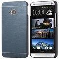 Kisscase para htc m7 m8 m9 case moda delgado de metal de aluminio de plástico híbrido case para htc one m7 m8 m9 cubierta del teléfono durable delgado