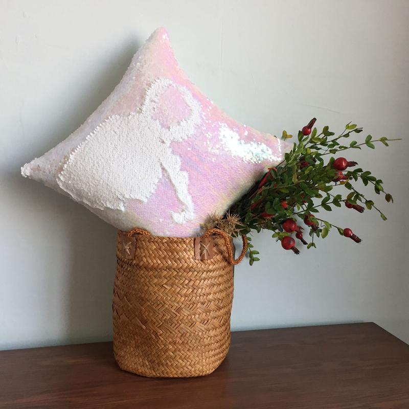 Pillowcase Decorative Mermaid Sequin Colorful Square Plain Knitted Hidden Zipper Pillow Home Car Sofa Cushion Cover 40*40cm 8