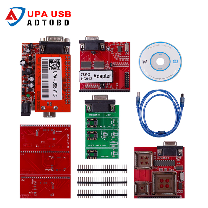 Best Selling UPA USB Serial Programmer Full adapters V1.3 Popular Eeprom Universal Chip Programmer auto ECU Tool the best quality update version super upa usb programmer with full adapters hot selling