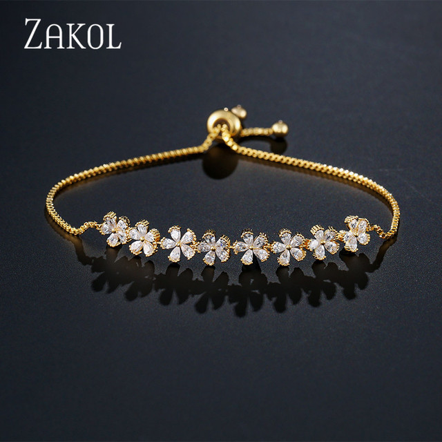 ZAKOL Flower Shape Cubic...