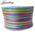 AWAYTR Colorful 1mm 100 Yard/Roll Satin Rattail Nylon Cord/String Kumihimo Macrame Cord Beading Braided Jewelry Materials