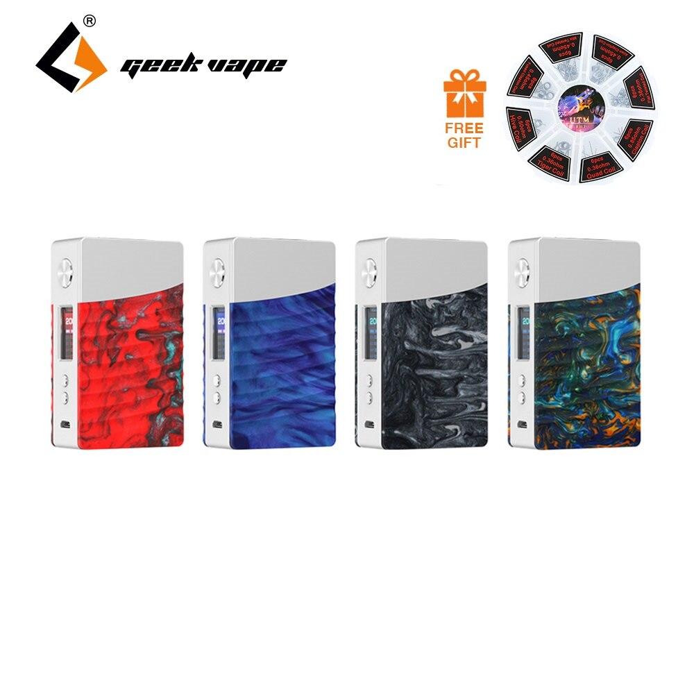 200 w TC GeekVape NOVA Caixa MOD com Avançados COMO Chip & Cores Atraentes 10 ms Velocidade de Fogo E- cig Vape Mod 18650 Bateria Ecig Mod