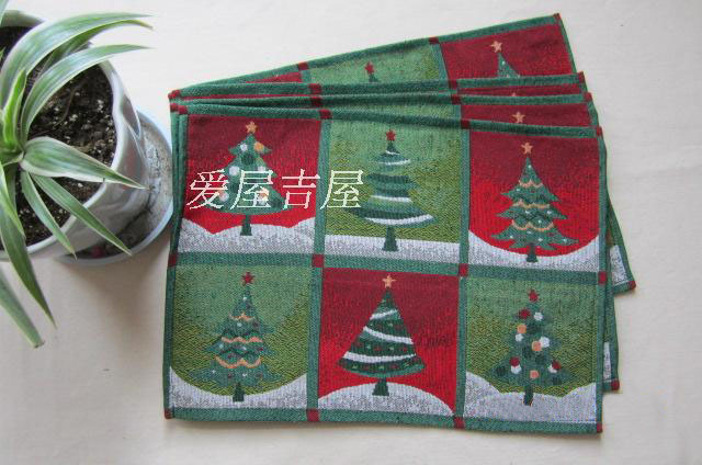 Vintage Christmas series placemats coasters table mat christmas tree disc pads