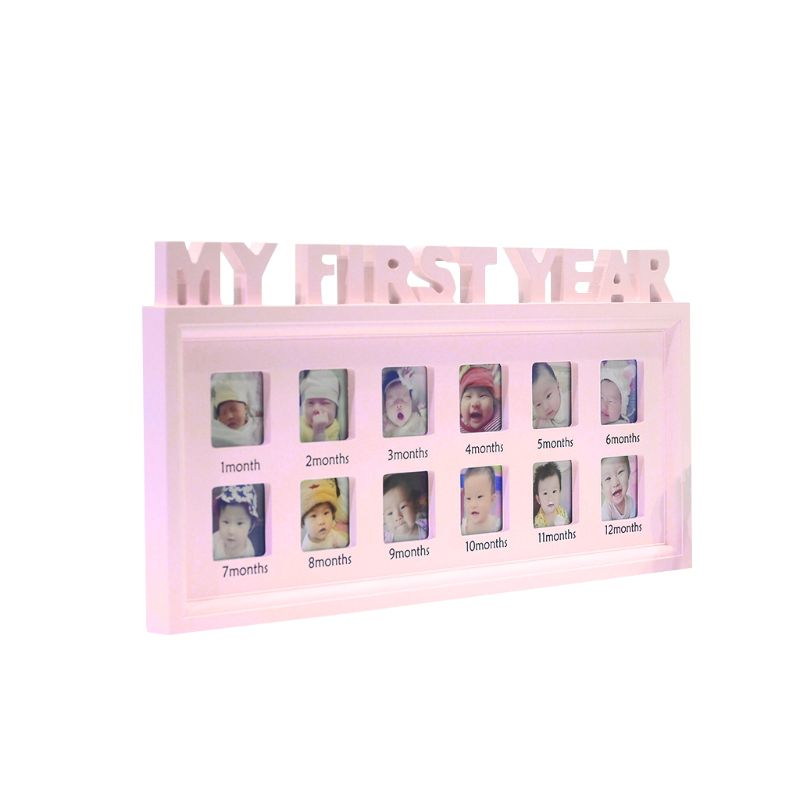 "Creative DIY 0-12 Month Baby ""MY FIRST YEAR"" Pictures Display Plastic Photo Frame Souvenirs Commemorate Kids Growing Memory Gift"