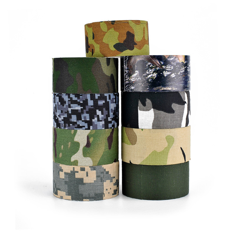 5m*50mm Military Camouflage Tape Gun Hiden Accessories Outdoor Hunting Camo Tape for Bir ...
