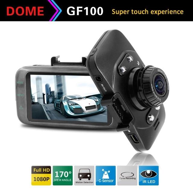 "Ambarella Original Car dvr GF100 2.7""LCD 1080P Full HD 30fps+Touch Buttons Car Camera with G-Sensor Video Recorder Dash Cam"