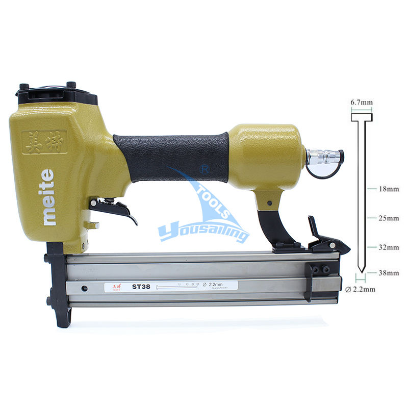 High Quality ST38 Professional Pneumatic Nailing Gun Air Stapler Gun Pneumatic Nailer Gun 18-38mm for Trunking/Concrete high quality h625x high quality pneumatic nail gun kit pneumatic pinner nailer kit nailing gun air nailer stapler