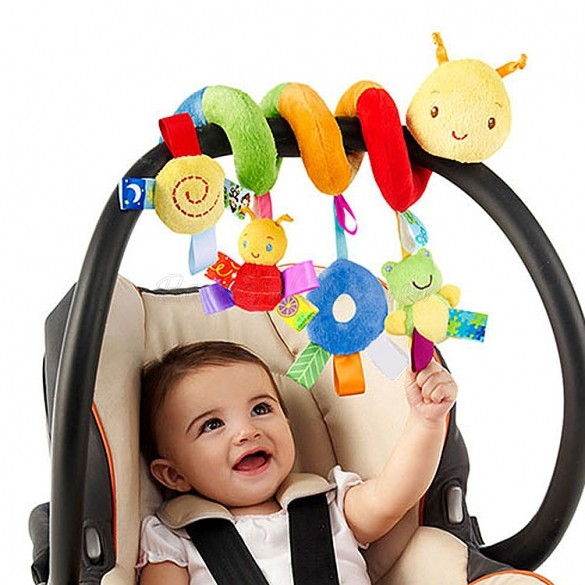 2015 New Cute Spiral Activity Stroller Car Seat Cot Lathe Hanging ...
