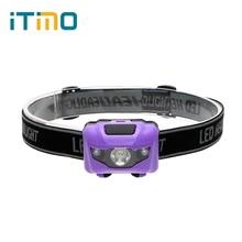 iTimo Headlamp Waterproof  4 Modes 3W LED Headlight For Cycling Hiking Camping Hunting Headlight Night Fishing Flashlight