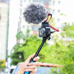 Image 4 - Ulanzi microfone frio sapata montagem para osmo ação highten microfone braçadeira qucik placa de liberação para original dji osmo ação gaiola