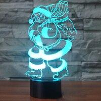 Ev 3D Gece Işık için yeni Tatil Aydınlatma Noel Süslemeleri Noel Baba Şekil USB Led Noel ışıkları kapalı Çocuklar Hediye