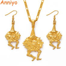 цена на Anniyo Bird of Paradise Jewelry set Gold Color Necklaces & Earrings for Women,Papua New Guinea PNG Style Duk Duk Gifts #085506